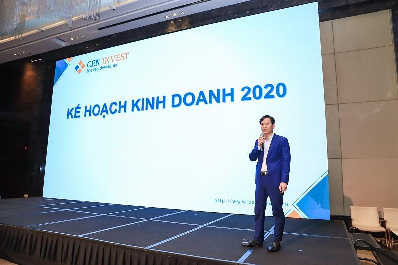 anh Vương Văn Tường – Tổng Giám đốc CenInvest báo cáo kế hoạch kinh doanh, đầu tư trong năm 2020