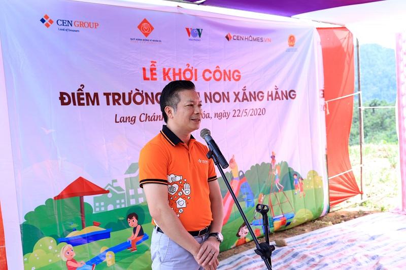 Ông Phạm Thanh Hưng - Phó Chủ tịch HĐQT CenGroup phát biểu tại sự kiện