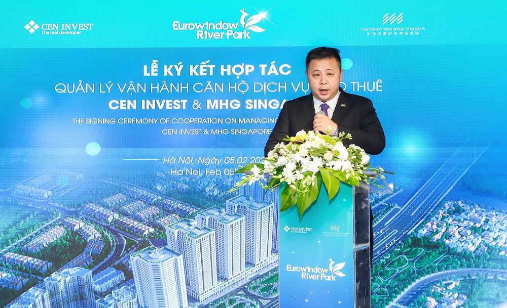 Ông Ray Chow - Phó chủ tịch vận hành tập đoàn MHG phát biểu tại sự kiện